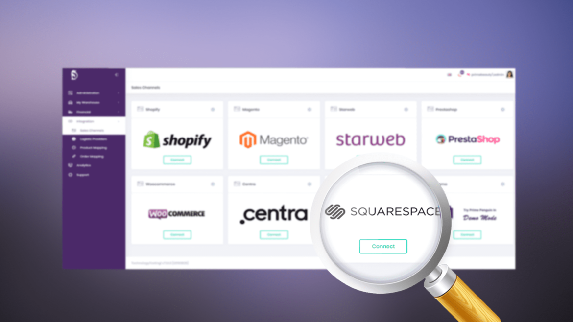 New integration – Squarespace